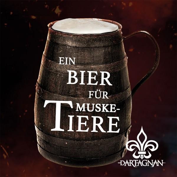 dArtagnan Support Aufkleber Ein Bier für Musketiere