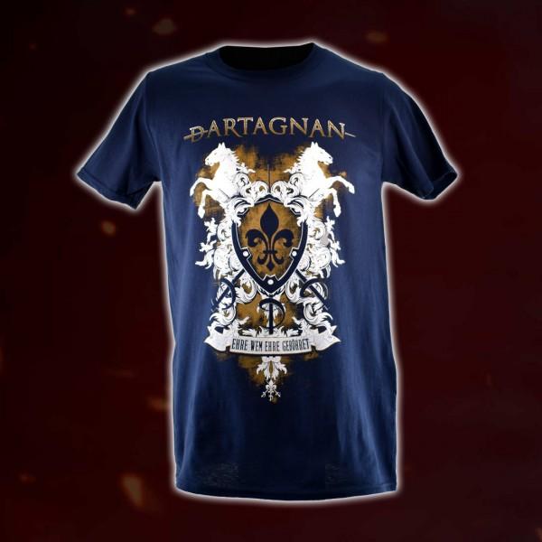 dArtagnan T-Shirt »Ehre wem Ehre gebühret« Blau