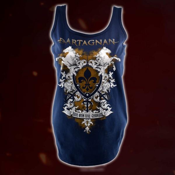 dArtagnan Girl Tank Top »Ehre wem Ehre gebühret« Blau