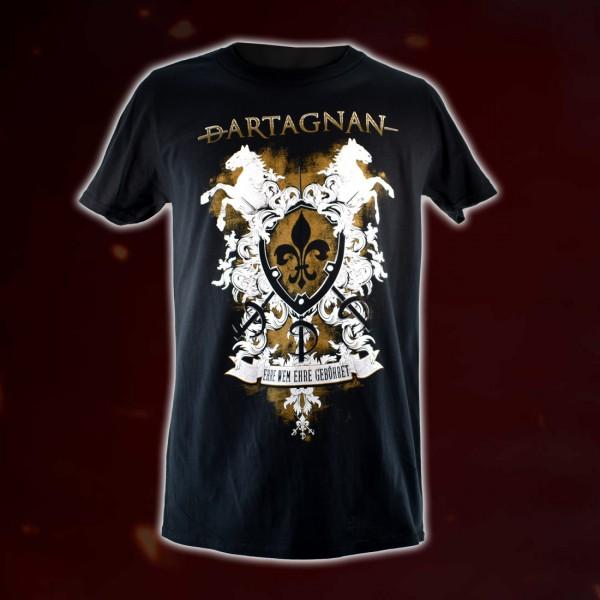 dArtagnan T-Shirt »Ehre wem Ehre gebühret« Schwarz